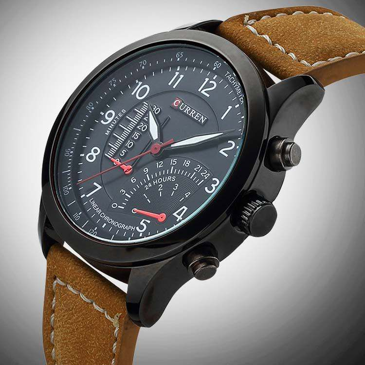 zoom brown men collection strap watch s cliffhanger mens leather watches diesel