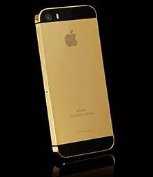 Fashion Back Case For Apple IPhone 5G 5S Gold With Black